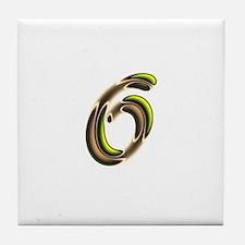 Phyllis Initials 6 Tile Coaster