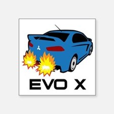 "Evo X Square Sticker 3"" x 3"""