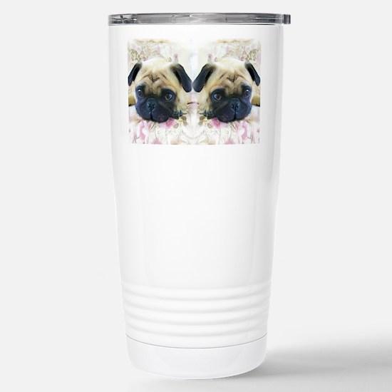 flip flops pug Stainless Steel Travel Mug
