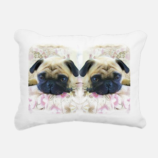 flip flops pug Rectangular Canvas Pillow
