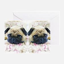 flip flops pug Greeting Card