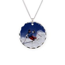 Skiing Down the Mountain Rev Necklace