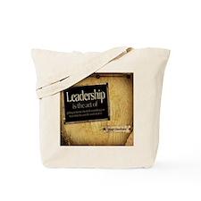 Leadership Quote on Tile Coaster, Keepsak Tote Bag