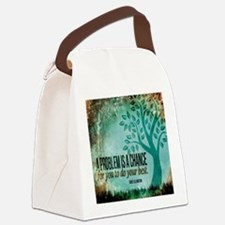 Do Your Best Quote on Tile Coaste Canvas Lunch Bag