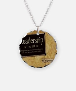 Leadership Quote on Tile Coa Necklace