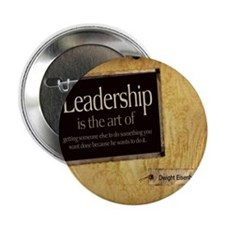 "Leadership Quote on Tile Coaster, Kee 2.25"" Button"