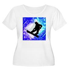 Snowboarder i T-Shirt