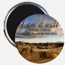 Well and Wisdom Quote on Tile Coaster, Keep Magnet