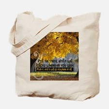 String Quote on Tile Coaster, Keepsake Bo Tote Bag