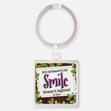 Smile Quote on Tile Coaster, Keeps Square Keychain