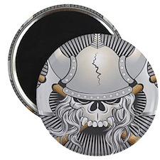 Viking Warrior Skull Magnets