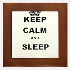 KEEP CALM AND SLEEP Framed Tile