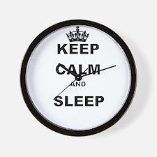 KEEP CALM AND SLEEP Wall Clock