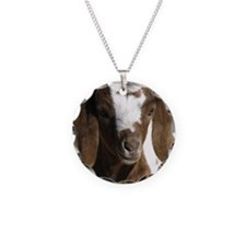 Cute kid goat Necklace Circle Charm