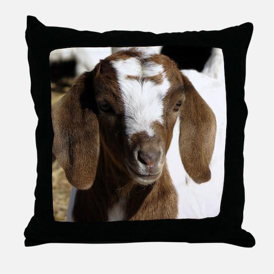Cute kid goat Throw Pillow