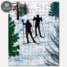 Two Cross Country Skiers in Snow Squall Puzzle