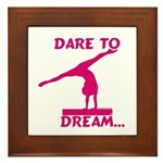 Gymnastics Framed Tile - Dream
