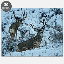 Bucks in snow 2 Puzzle