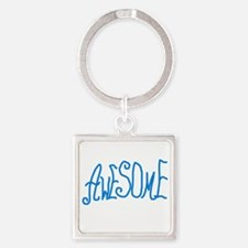 BLUEAWESOMEGRAMPS Square Keychain