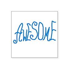 "BLUEAWESOMEBABA Square Sticker 3"" x 3"""