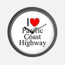 I Love Pacific Coast Highway Wall Clock