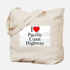 I Love Pacific Coast Highway Tote Bag