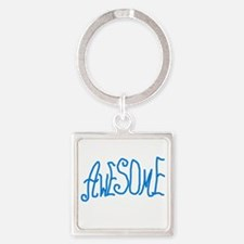 BLUEAWESOMEYAYA Square Keychain