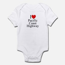 I Love Pacific Coast Highway Infant Bodysuit