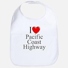 I Love Pacific Coast Highway Bib
