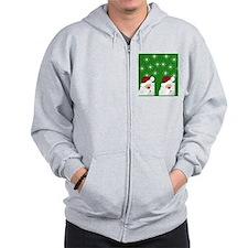 Santa Flip Flops Zip Hoody