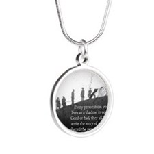 Shadows in Your Mind Silver Round Necklace