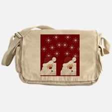 Santa Claus Holiday Christmas Flip F Messenger Bag
