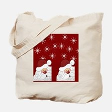 Santa Claus Holiday Christmas Flip Flops Tote Bag