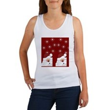 Santa Claus Holiday Christmas Fli Women's Tank Top