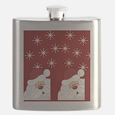 Santa Claus Holiday Christmas Flip Flops Flask
