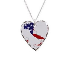 Italian American Necklace Heart Charm