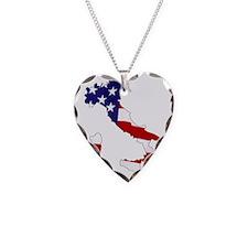 Italian American Necklace Heart Charm
