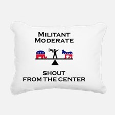 Militant Moderate Rectangular Canvas Pillow
