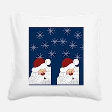 Santa Claus Holiday Flip Flop Square Canvas Pillow
