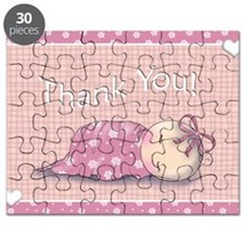 baby shower invites matching thank you note Puzzle