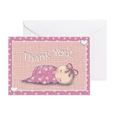 baby shower invites matching thank y Greeting Card