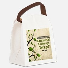 Boss And Leader Quote on Tile Coa Canvas Lunch Bag