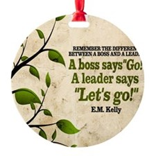 Boss And Leader Quote on Tile Coast Ornament