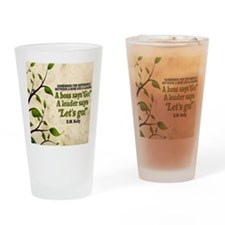 Boss And Leader Quote on Tile Coast Drinking Glass