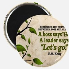 Boss And Leader Quote on Tile Coaster, Keep Magnet