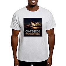 Confidence Quote on Tile Coaster, Ke T-Shirt
