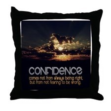 Confidence Quote on Tile Coaster, Kee Throw Pillow