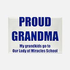 Proud Grandma Transp Blue Rectangle Magnet