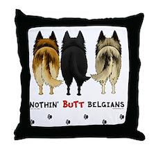 BelgianButtsNew Throw Pillow