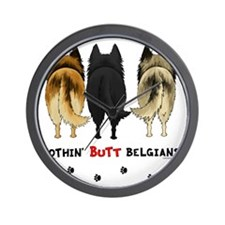BelgianButtsNew Wall Clock
